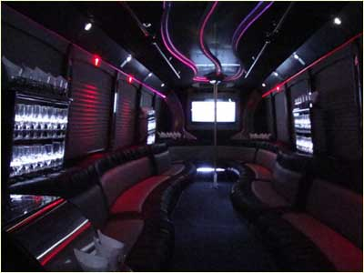 Boston Logan Airport Party Bus Interior