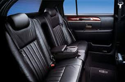Luxury leather lincoln town car